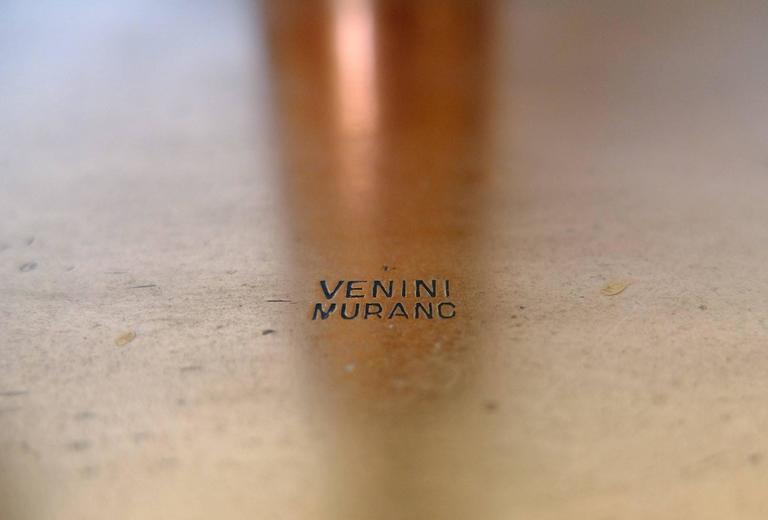 Polished Tomaso Buzzi for Venini, Mid-Century Floor Lamp Signed