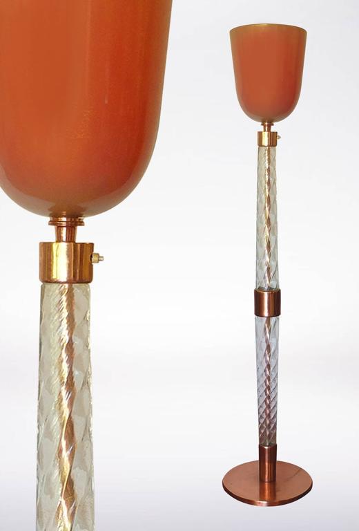 Mid-Century Modern Tomaso Buzzi for Venini, Mid-Century Floor Lamp Signed
