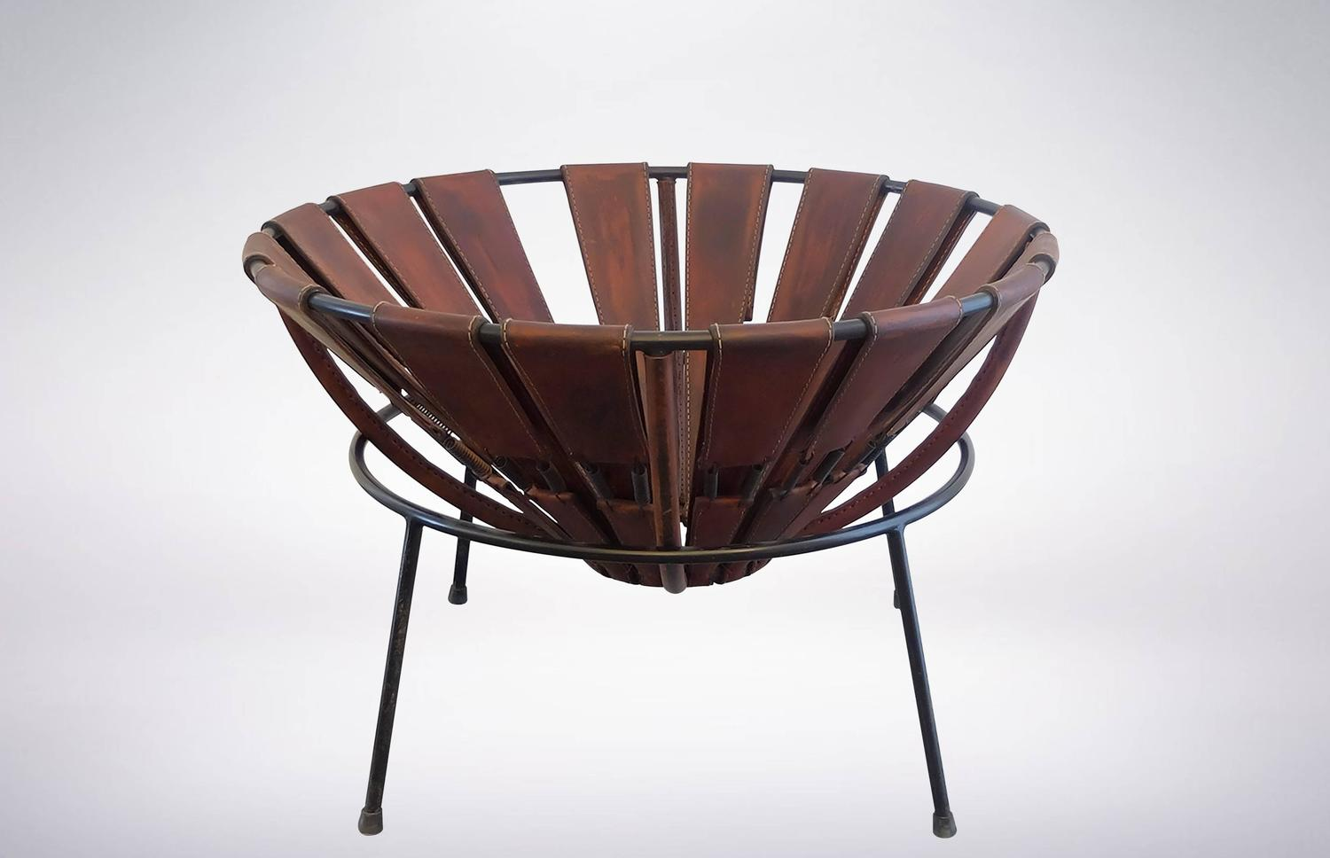 Bowl chair in leather by lina bo bardi from the 1950s for for Lina bo bardi bowl