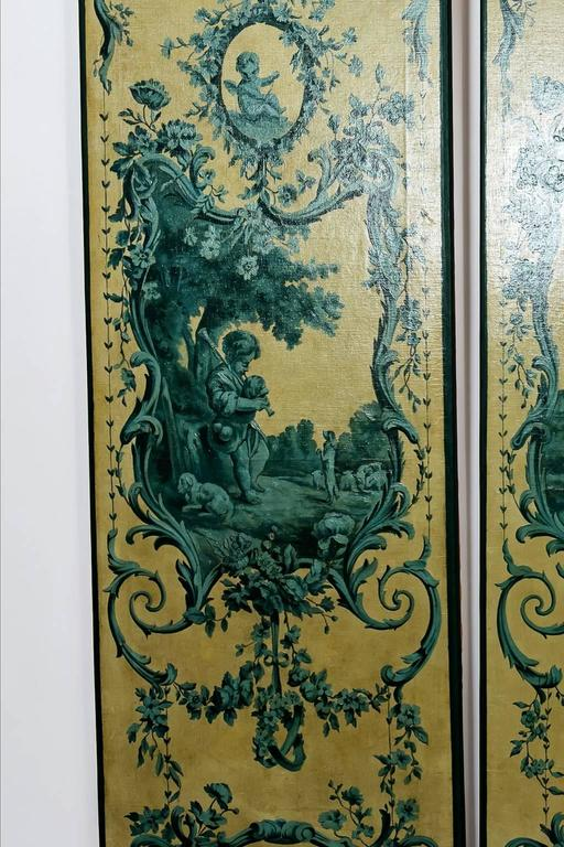 Four Italian 19th Century Blue Grisailles, Four Seasons 6