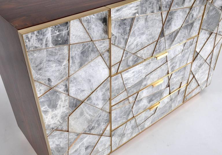 Ray Cabinet in Selenite, Bronze and Claro Walnut by Newell Design Studio 3