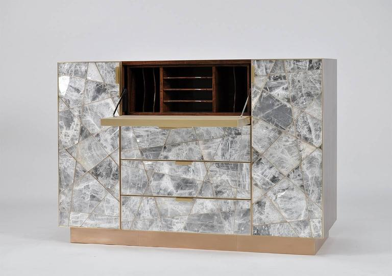 Ray Cabinet in Selenite, Bronze and Claro Walnut by Newell Design Studio 6