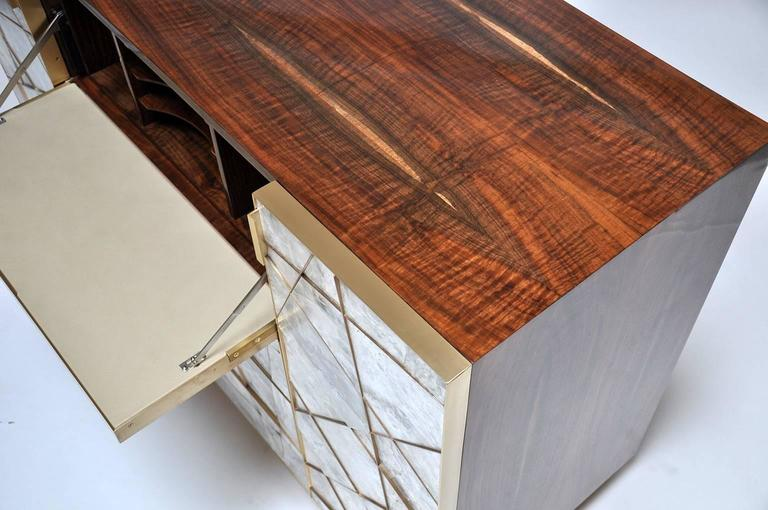 Ray Cabinet in Selenite, Bronze and Claro Walnut by Newell Design Studio 7