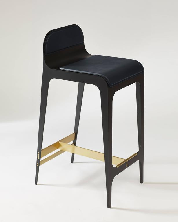 Awesome Bardot Counter Stool In Black Steel And Satin Copper With Nude Leather Lamtechconsult Wood Chair Design Ideas Lamtechconsultcom