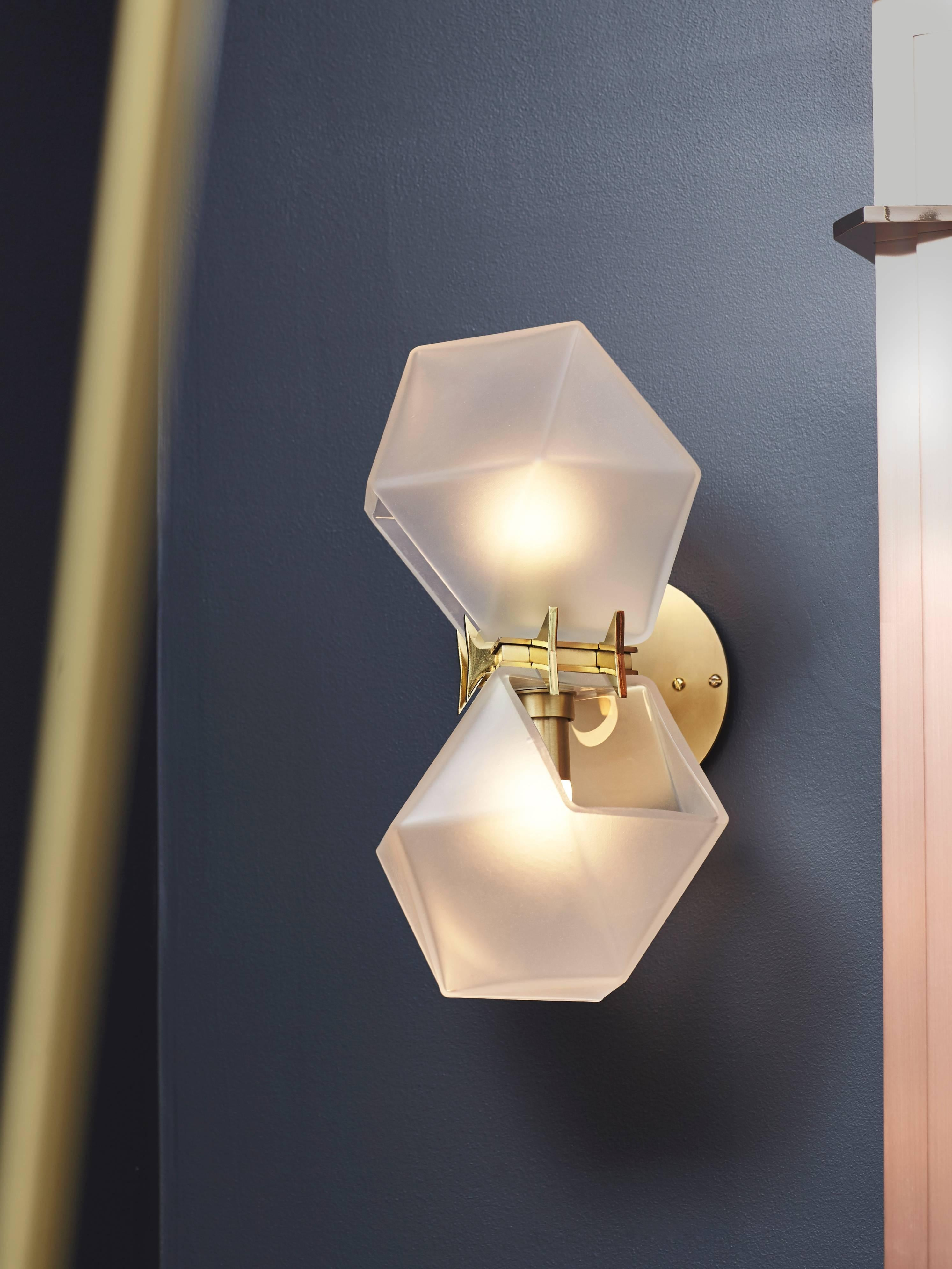shade sconce brass industrial wall sconces fixture gold metal lighting pin modern