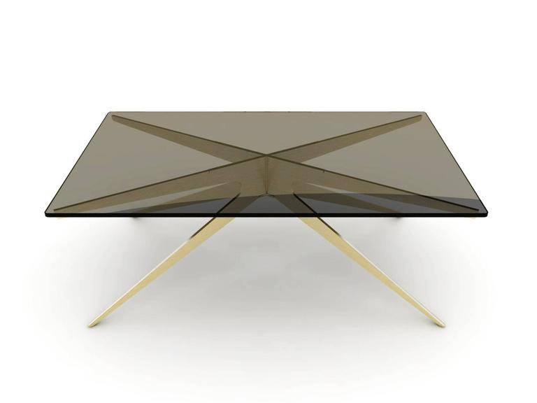 Bronzed DEAN Regular Coffee Table in Customizable Finishes For Sale