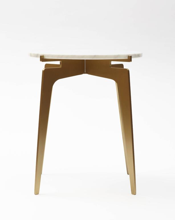 Modern Prong Round Side Table For Sale
