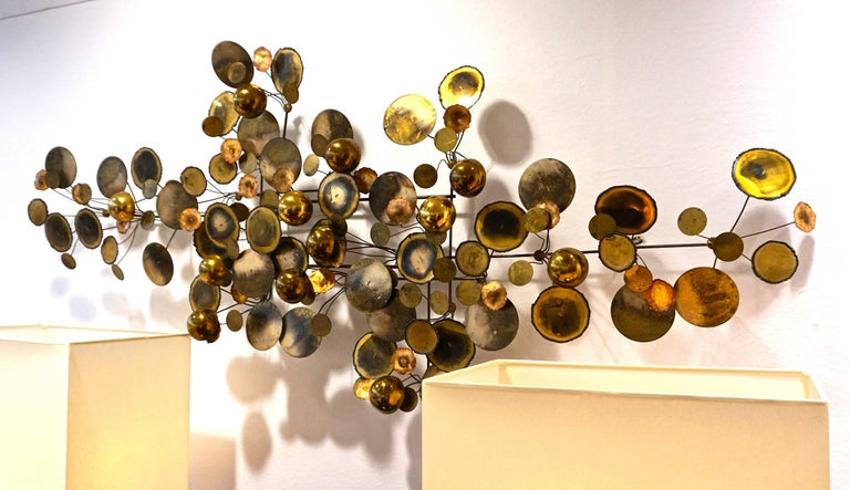 """Curtis Jere """"Raindrops"""" Wall Sculpture, Last Quarter of the 20th Century 3"""
