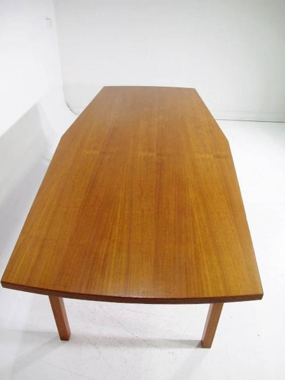 Scandinavian Modern Danish Conference Table or Dining Table from the 1960s Made in Teak For Sale