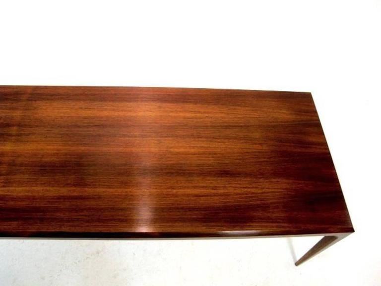 Very Long Narrow Coffee Table or Bench by Johannes Andersen for Silkeborg In Good Condition For Sale In Helsingborg, SE