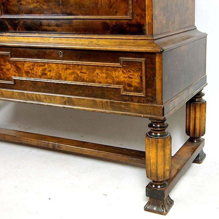 Swedish Grace Cabinet Art Deco Flame Birch, 1920s 4