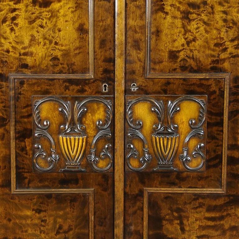 Swedish Grace Cabinet Art Deco Flame Birch, 1920s 2