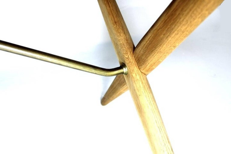 20th Century Scandinavian Dining Table with Cross-Leg, At-309 Hans J Wegner for Andreas Tuck For Sale