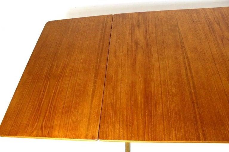 Scandinavian Dining Table with Cross-Leg, At-309 Hans J Wegner for Andreas Tuck For Sale 1