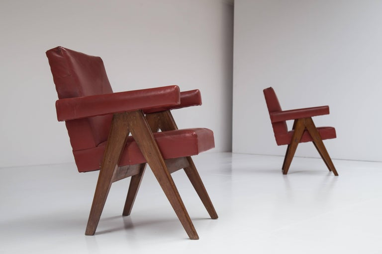Pair of Pierre Jeanneret Chairs 2