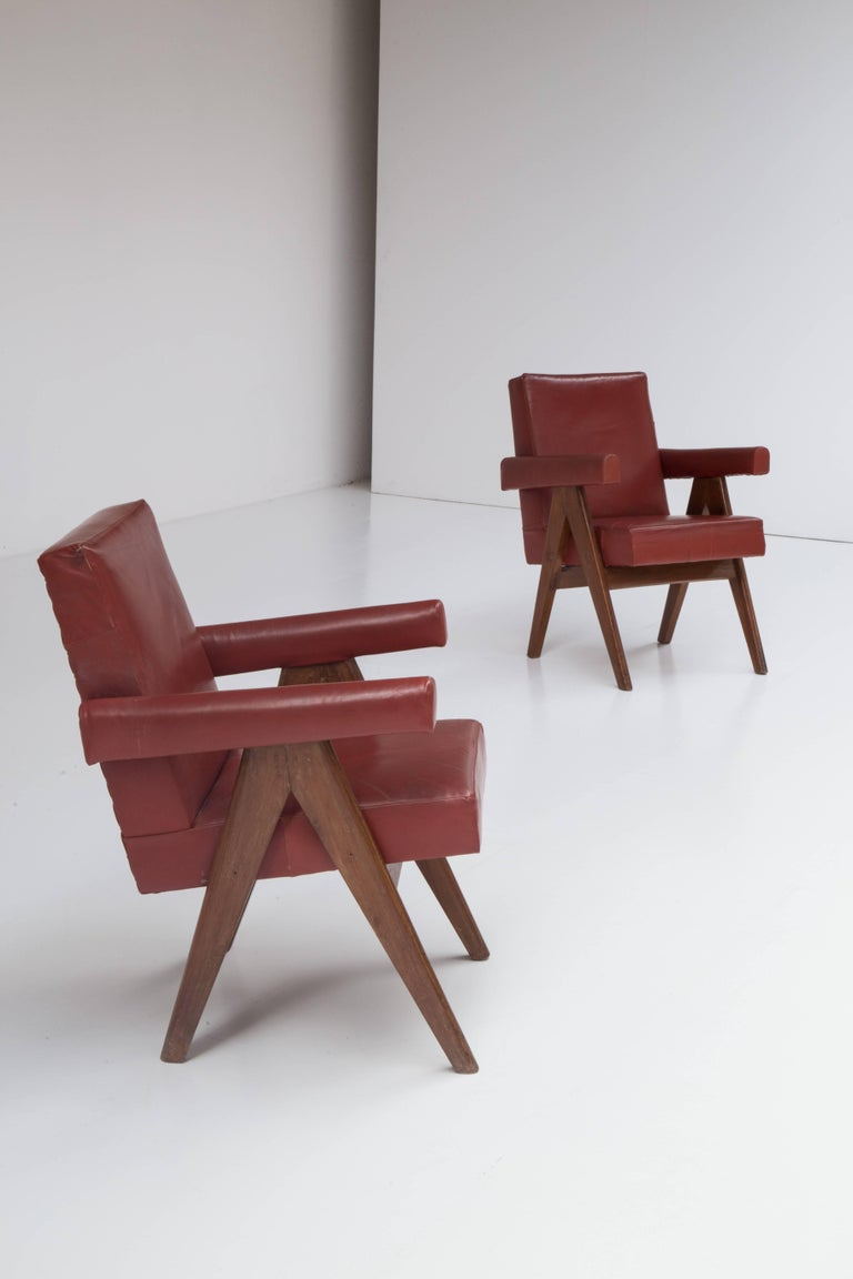Pair of Pierre Jeanneret Chairs 9