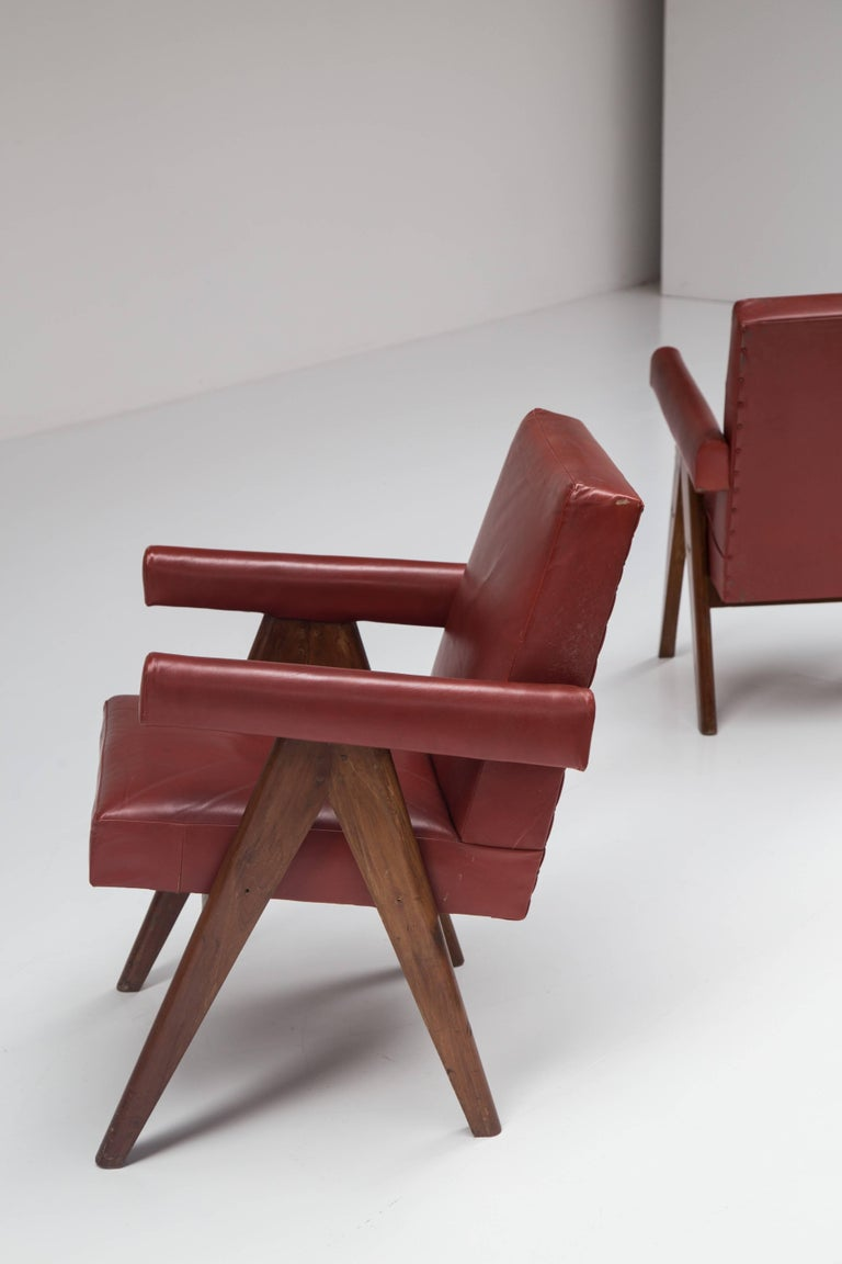 Pair of Pierre Jeanneret Chairs 8