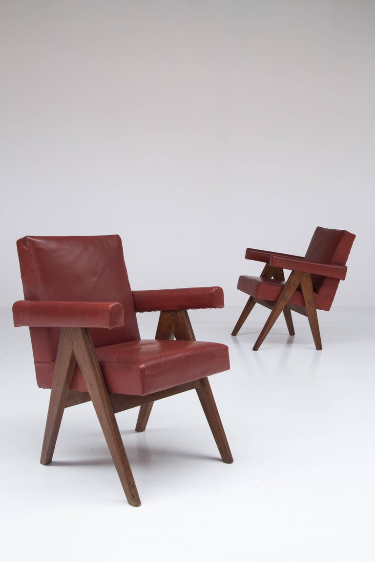 Pair of Pierre Jeanneret Chairs 6