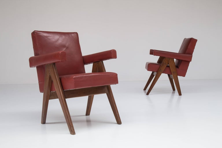 Pair of Pierre Jeanneret Chairs 7