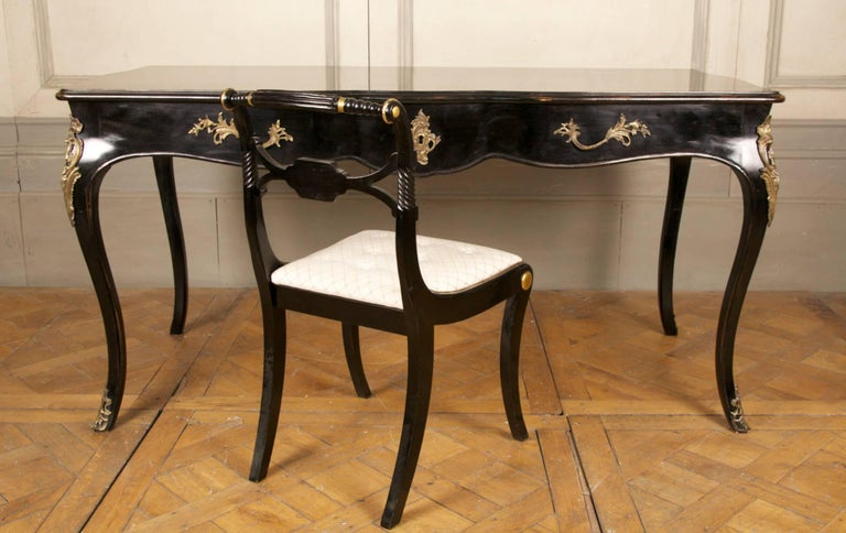 Contemporary Louis XV Writing Desk or Vanity Table For Sale