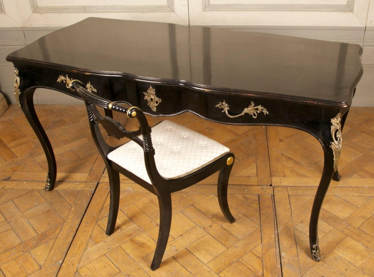Wood Louis XV Writing Desk or Vanity Table For Sale