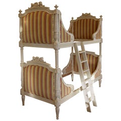 Louis XVI Style Bunk Beds/Matching Pair of Single Beds Made by La Maison London