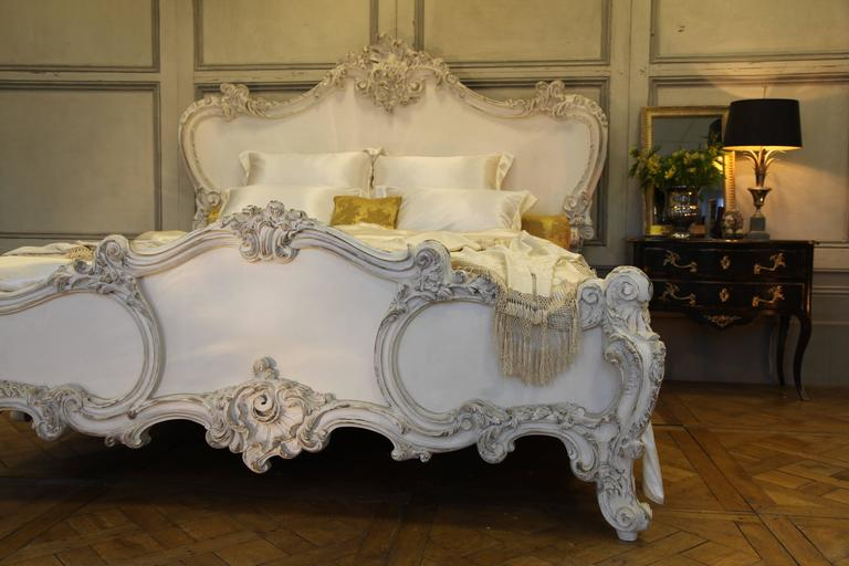 Hand Carved Rococo Style Cherub Bed Reproduced By La