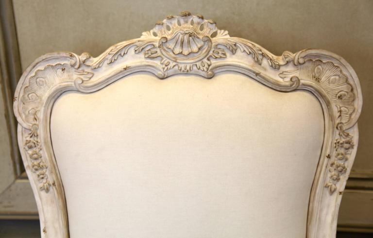 British Venetian Style Armchair For Sale