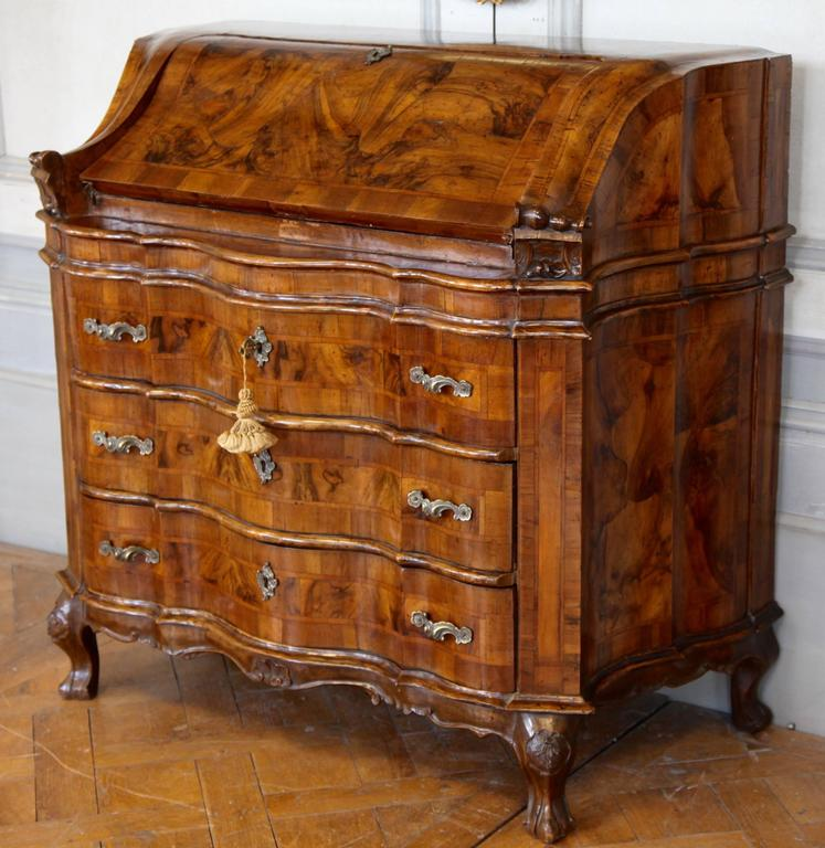 Rococo 19th Century Italian Scriban For Sale