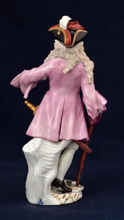 German Meissen Porcelain Figure of the Squire of Alsatia, circa 1754 For Sale
