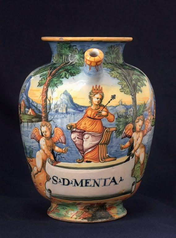Urbino Majolica Chevrette 16th Century For Sale At 1stdibs