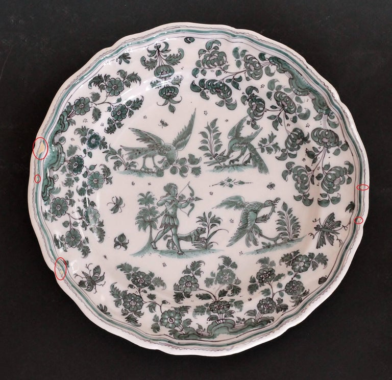 Mid-18th Century Moustiers 'France', 18th Century, Plate Earthenware with Grotesque Fantasy For Sale