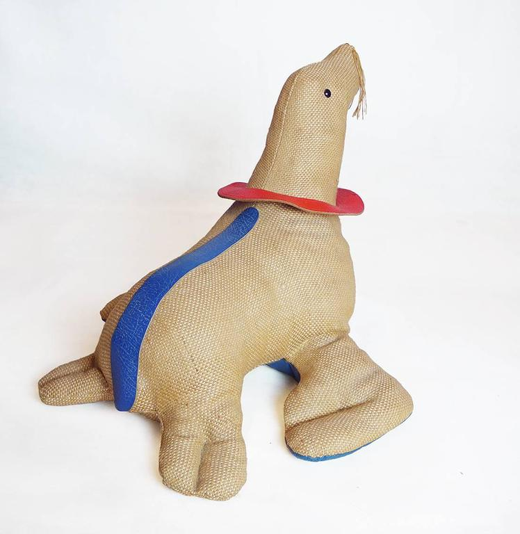 Renate Müller Therapeutic Toy Seal Oversized Stuffed Animal, 1971 4