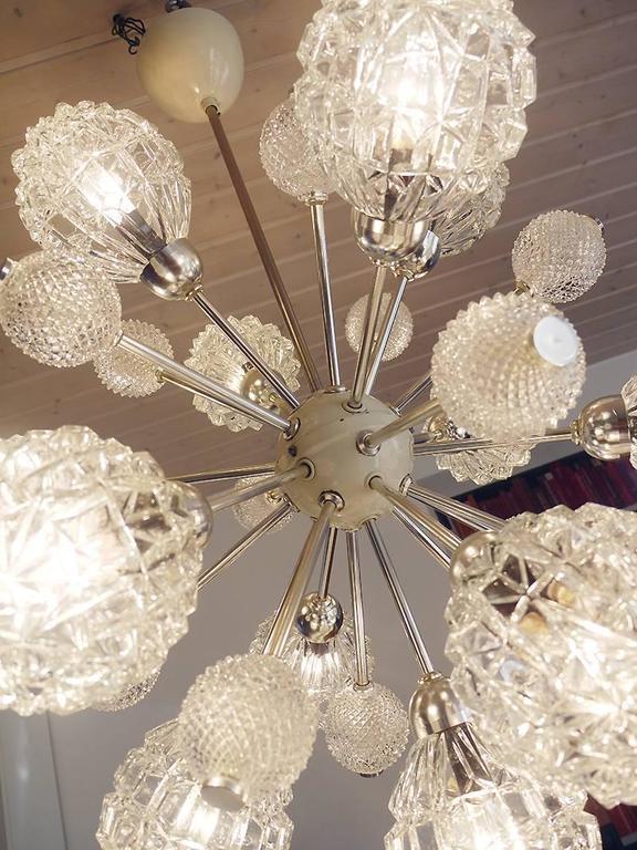 Richard Essig Bubble Glass Sputnik Chandelier In Excellent Condition For Sale In Niederdorfelden, Hessen