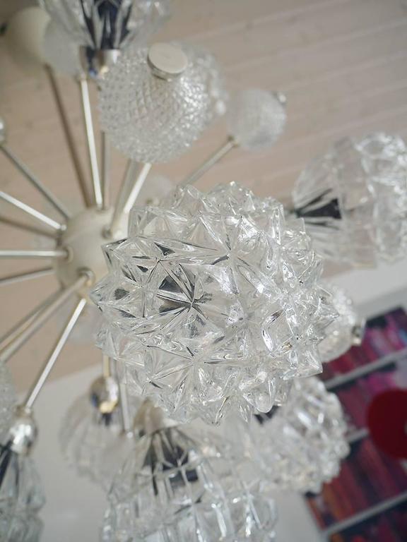 Richard Essig Bubble Glass Sputnik Chandelier For Sale 1