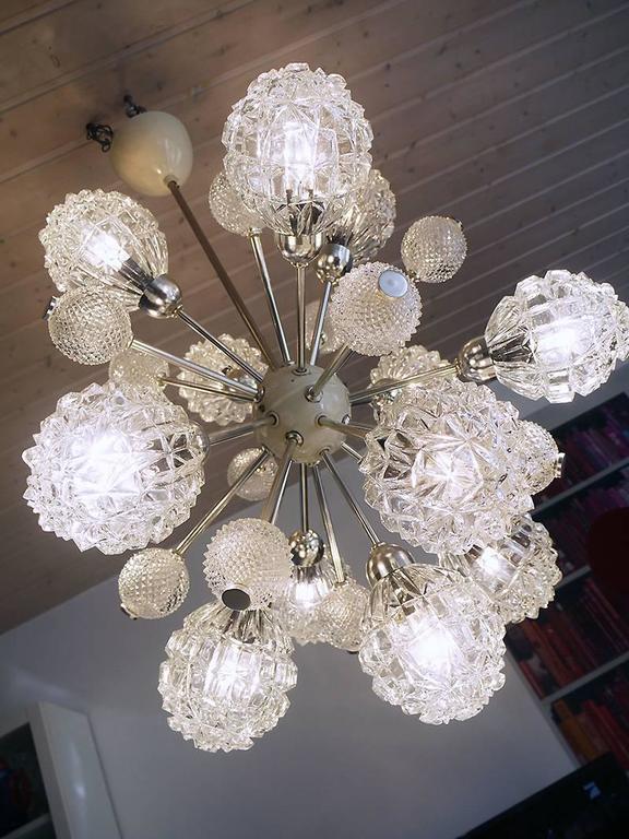 Richard Essig Bubble Glass Sputnik Chandelier For Sale 3
