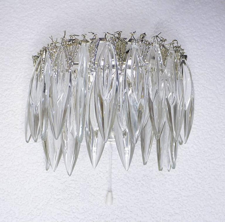 Pair of Crystal Glass Wall Sconces by Bakalowits & Sons 4