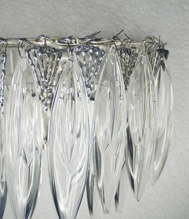 Pair of Crystal Glass Wall Sconces by Bakalowits & Sons 5