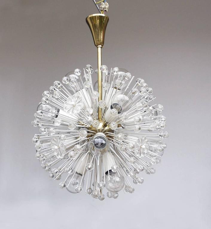 Mid-20th Century Snowball Sputnik Chandelier by Emil Stejnar for Rupert Nikoll For Sale