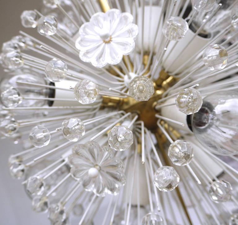 Mid-Century Modern Snowball Sputnik Chandelier by Emil Stejnar for Rupert Nikoll For Sale