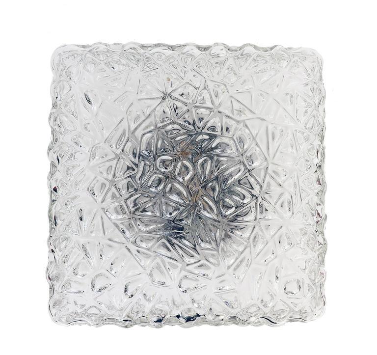Mid-Century Modern Modernist Pebble Glass Flush Mount Fixture by Rupert Nikoll, Austria For Sale