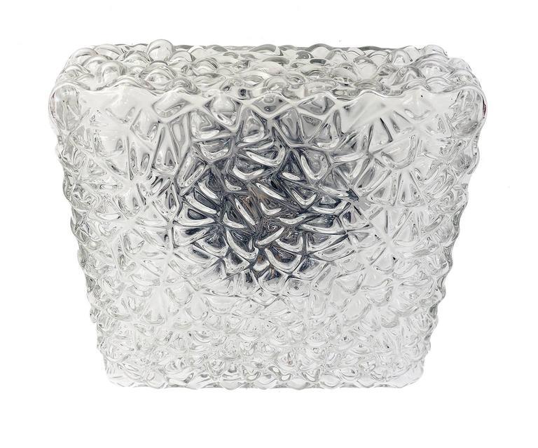 Modernist Pebble Glass Flush Mount Fixture by Rupert Nikoll, Austria For Sale 2