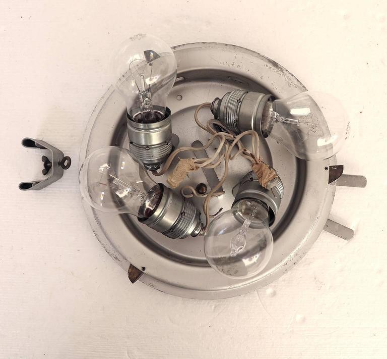 Mid-20th Century Modernist Pebble Glass Flush Mount Fixture by Rupert Nikoll, Austria For Sale