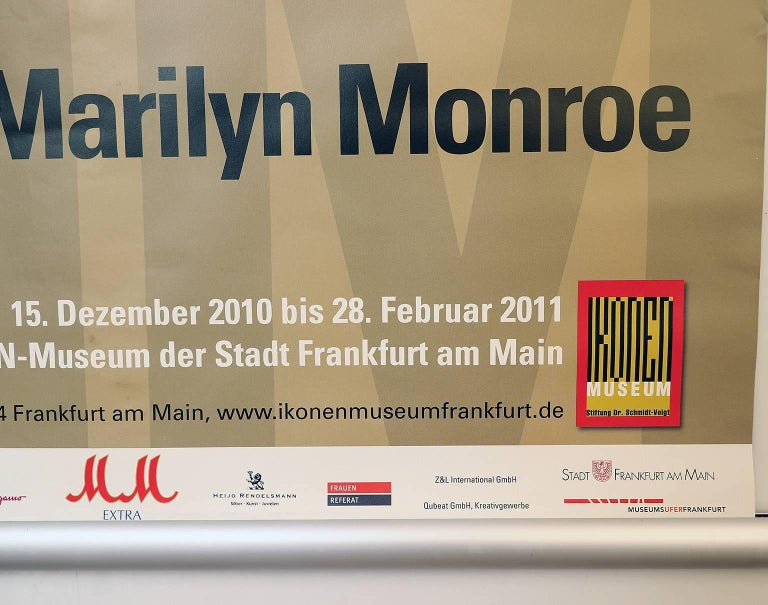 Marilyn Monroe, German exhibition poster Frankfurt, 2010-2011. Not framed, has not been folded, rolled up. Size diameter A1: 594 x 841 mm.