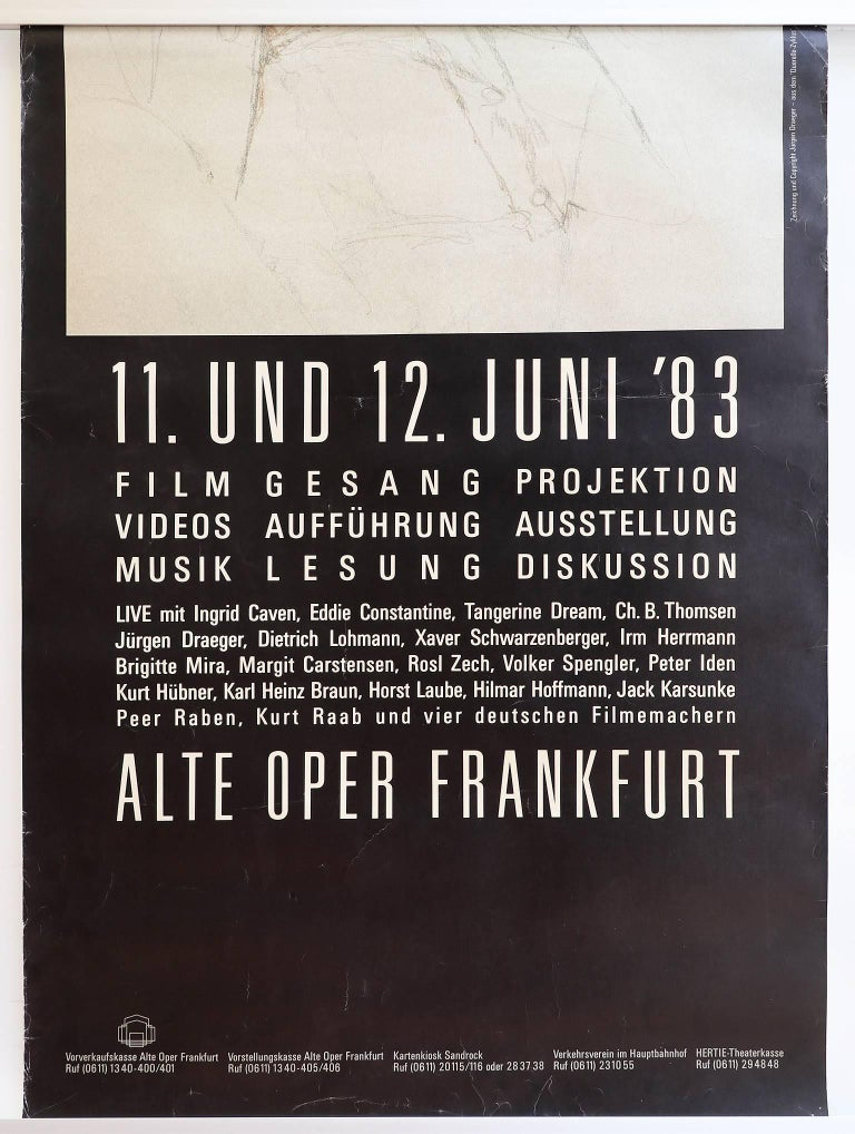 Rare Two-Piece Poster for R.W. Fassbinder Memorial in Germany, 1983 For Sale 2