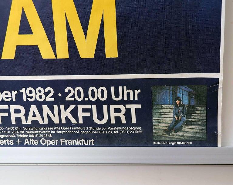 Tangerine Dream concert poster Alte Oper Frankfurt, 1982 Not framed, has not been folded, rolled up. Size: 83.5 x 59.5 cm.