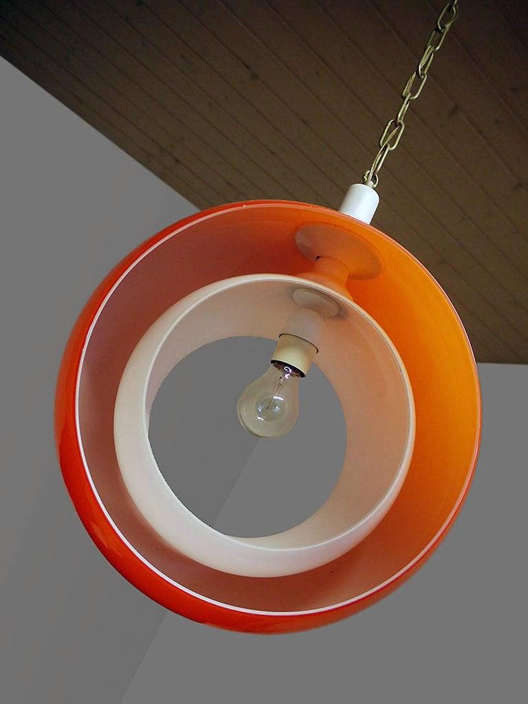 Murano Glass Pendant Lamp by Carlo Nason for Mazzega, 1960s 2