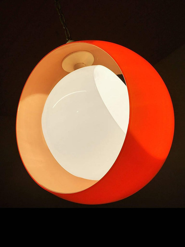 Murano Glass Pendant Lamp by Carlo Nason for Mazzega, 1960s 3