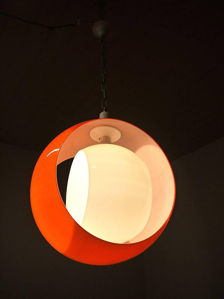 Italian Murano Glass Pendant Lamp by Carlo Nason for Mazzega, 1960s For Sale