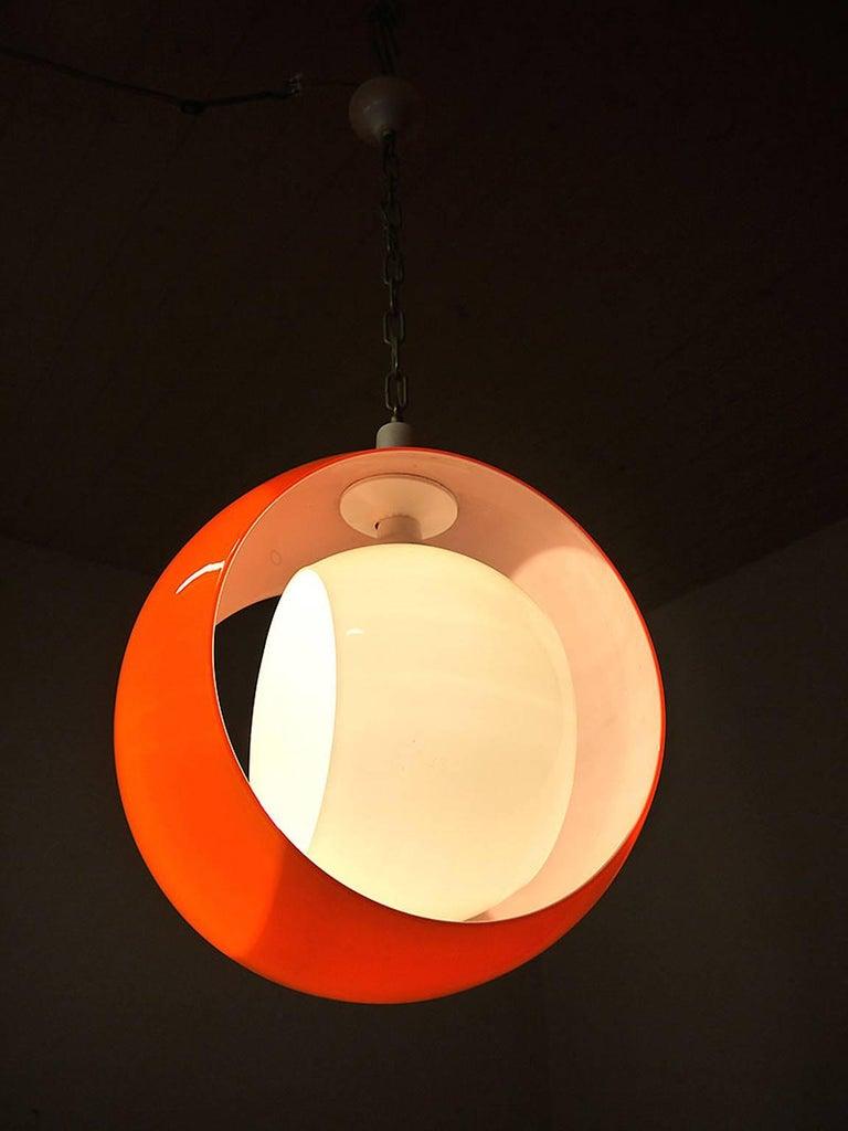 Murano Glass Pendant Lamp by Carlo Nason for Mazzega, 1960s 4